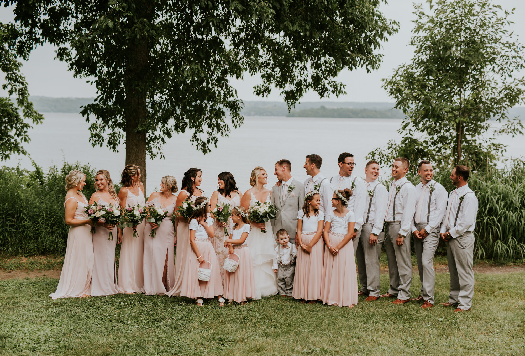 Elmhirst Resort Wedding - wedding party portrait