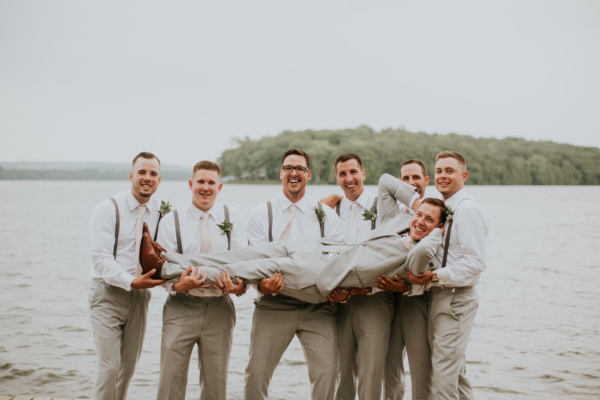Elmhirst Resort Wedding - groomsmen portrait