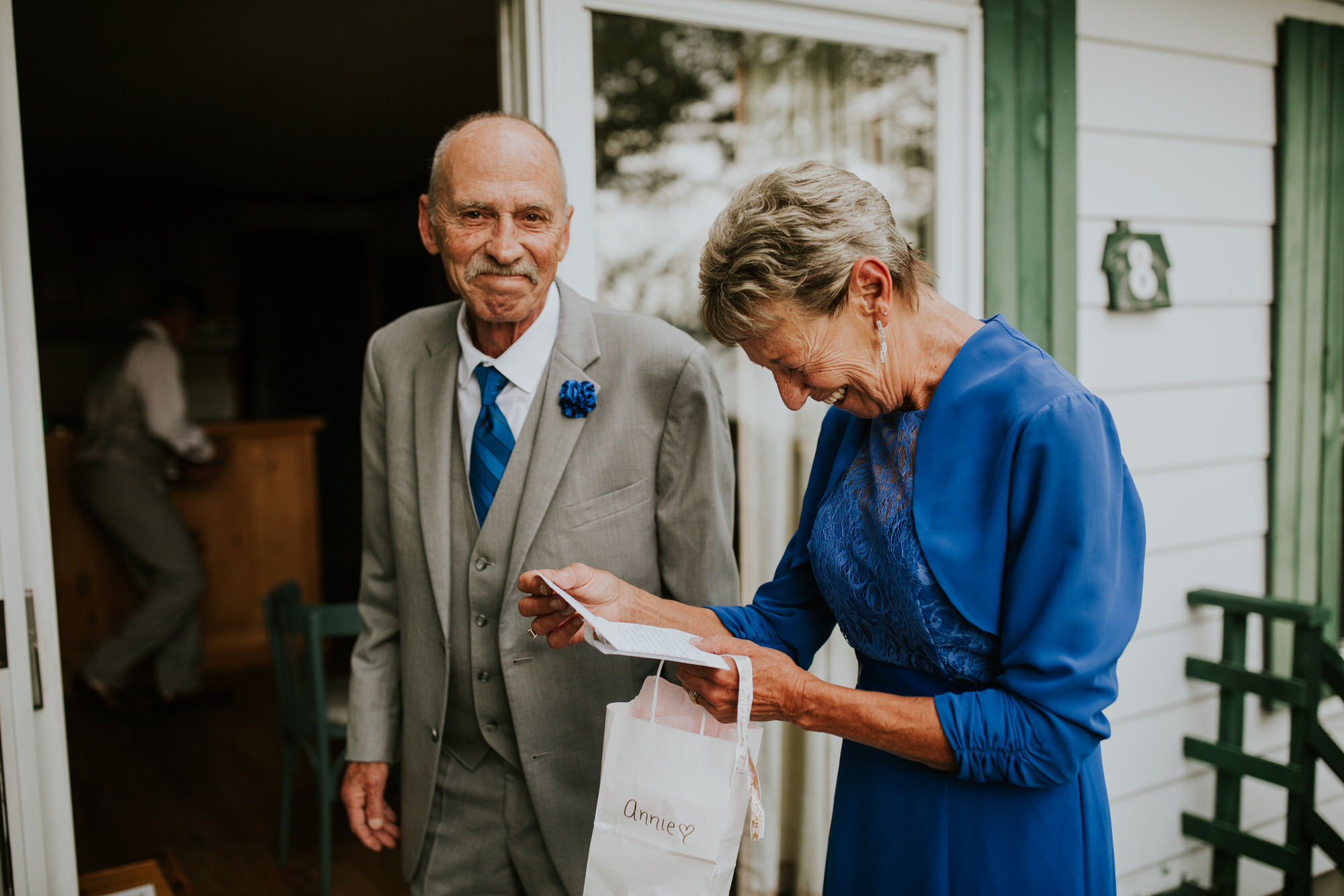 Elmhirst Resort Wedding - letter reading