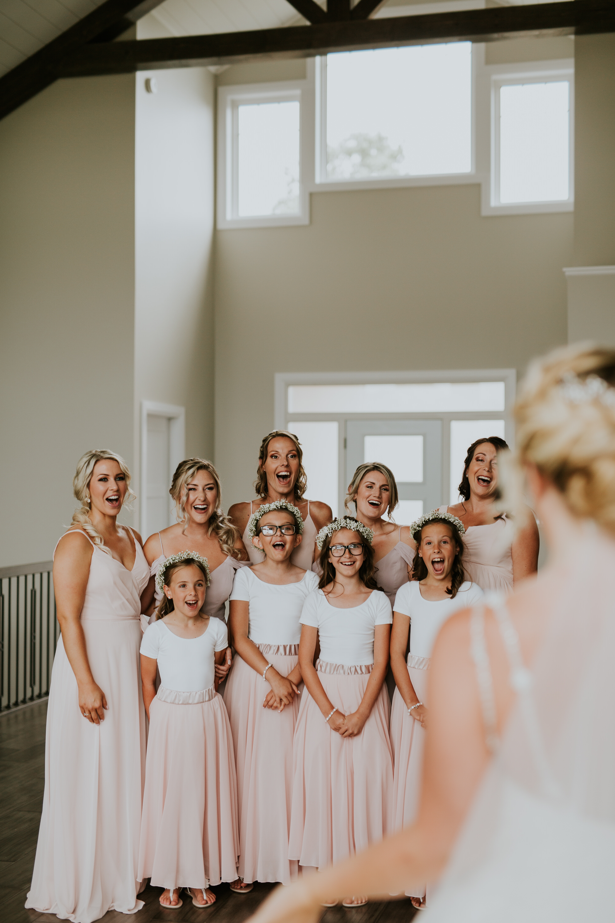 Elmhirst Resort Wedding - Bridal party first look