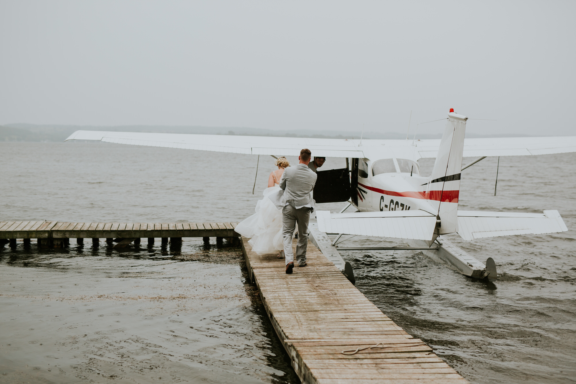 Elmhirst Resort Wedding - float plane