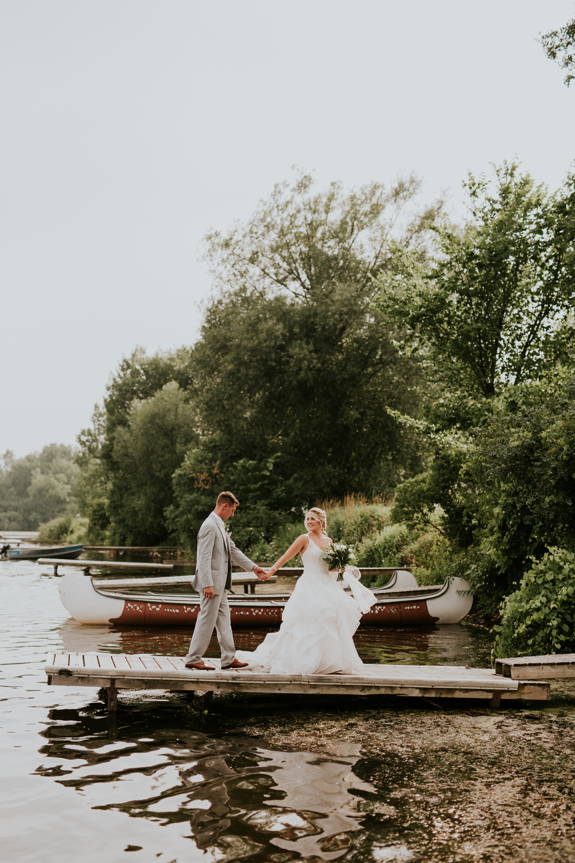 Elmhirst Resort Wedding - on the dock