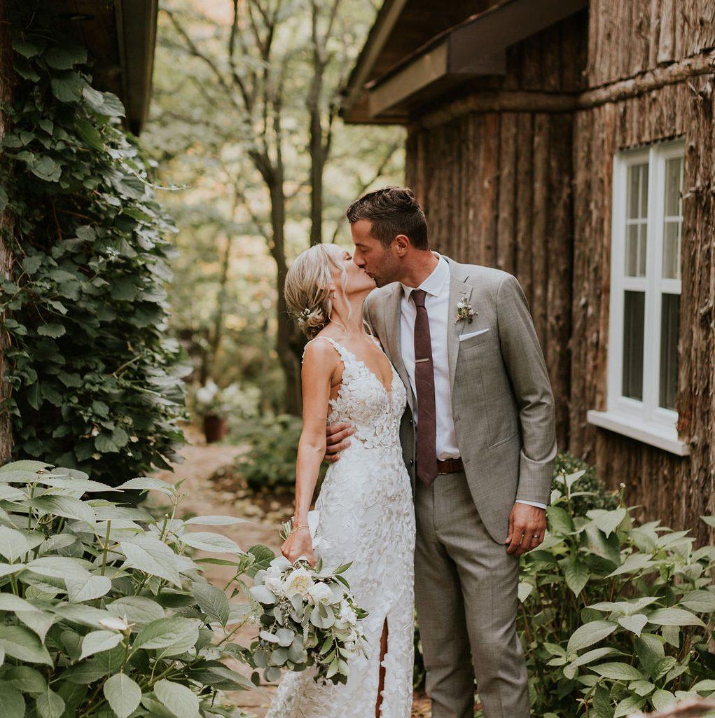 Groom looking at the bride